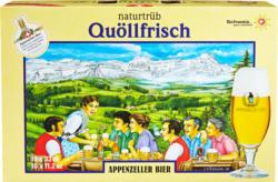 Appenzeller Bier Quöllfrisch, naturtrüb, 10 x 33 cl
