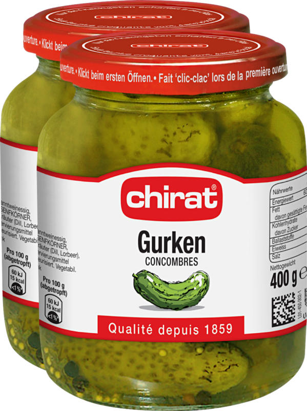 Cetrioli Chirat, 2 x 215 g