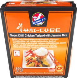 Kitchen Joy Thai-Cube  Sweet Chili Chicken Teriyaki, mit Jasminreis, 350 g