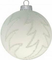 Christbaumkugel Weiß