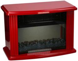 Elektrokamin 750/1500 Rot 2 Heizstufen Flammeff Milano