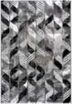 Möbelix Hochflor Teppich Grau/Schwarz Enna 80x150 cm