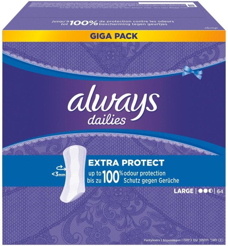 Always Dailies Slipeinlagen Extra Protect Large Giga Pack 64 Stück -