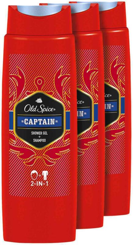 Gel doccia Old Spice Captain 2in1 3 x 250 ml -