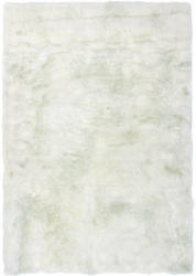 "Teppich ""Crown 110 Weiß/Puderblau"", 120x170cm, Schaffellimitat 120x170 cm"