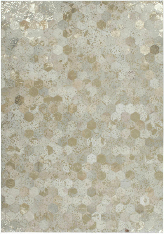"""Lederteppich """"Spark 210"""", elfenbein/gold 80x150 cm"""