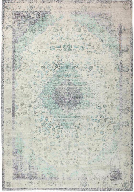 """Kurzflorteppich """"Vintage 8401"""", elfenbein/Mint 200x290 cm"""