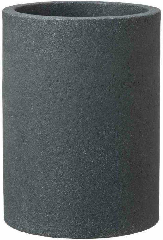 "Gefäß ""Leeds High"" Ø30x53 cm, schwarz-granit, Betonoptik schwarz-granit | Ø30x53 cm"