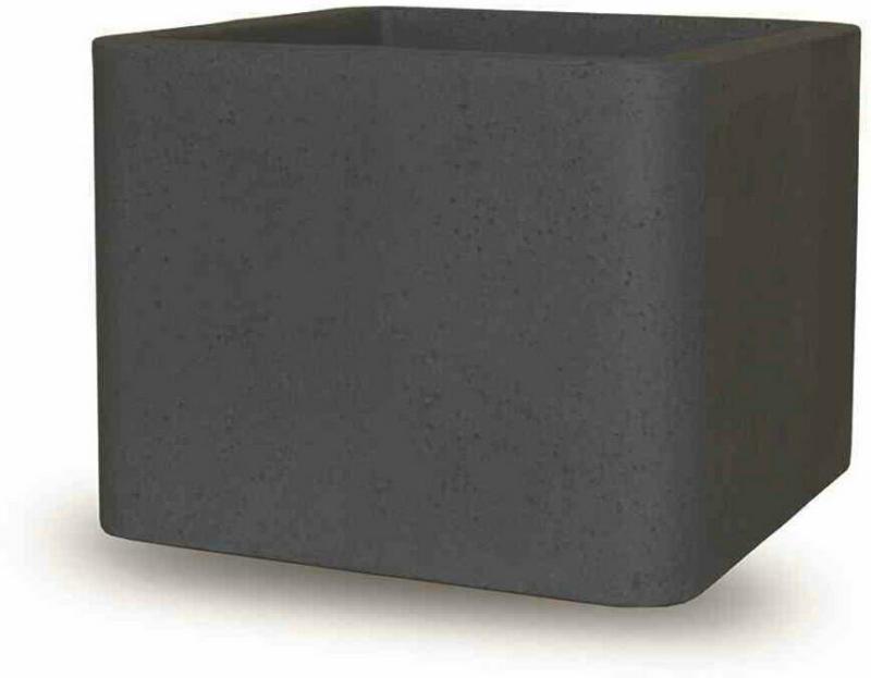 """Gefäß """"York"""" 40x40x40 cm, schwarz-granit, Betonoptik schwarz-granit   40x40x40 cm"""