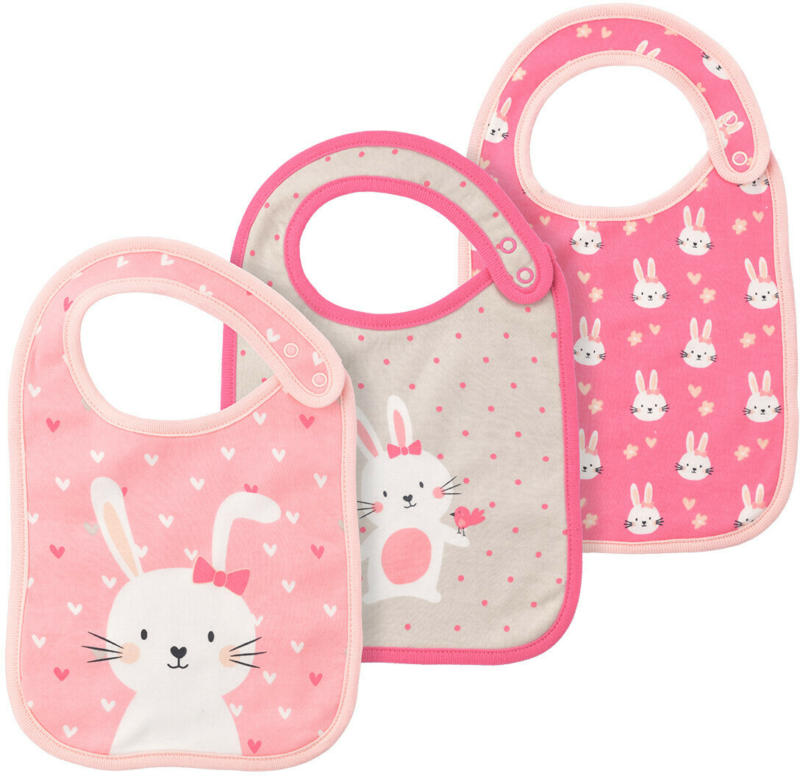 3 Baby Lätzchen in verschiedenen Dessins (Nur online)