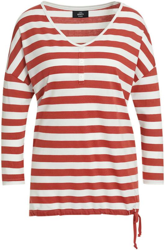 Damen Shirt mit Blockstreifen (Nur online)