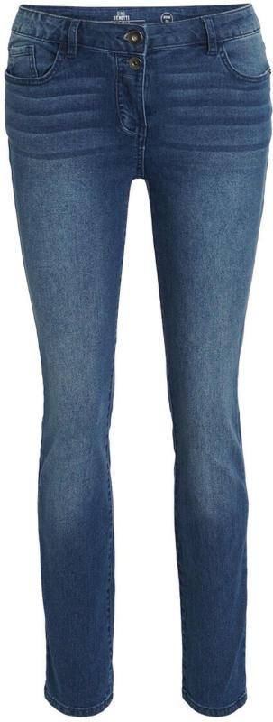 Damen Slim-Jeans mit Used-Effekt