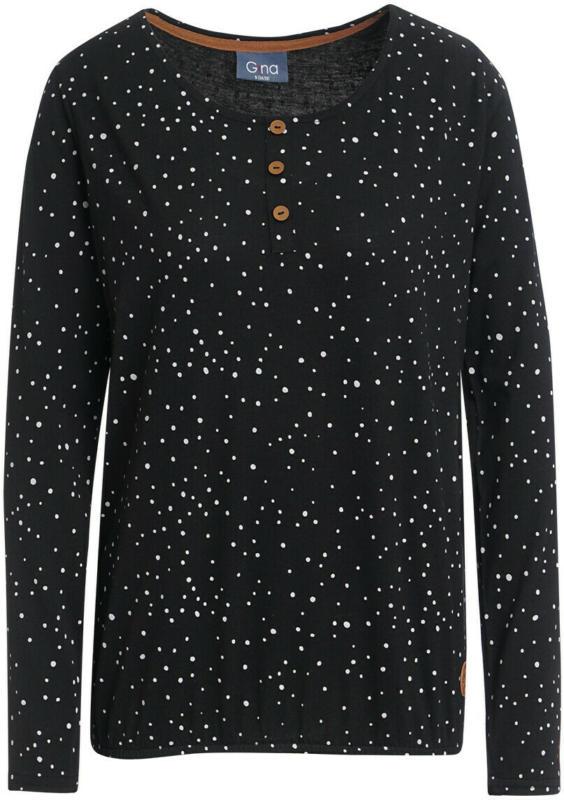 Damen Langarmshirt mit Punkten alllover (Nur online)