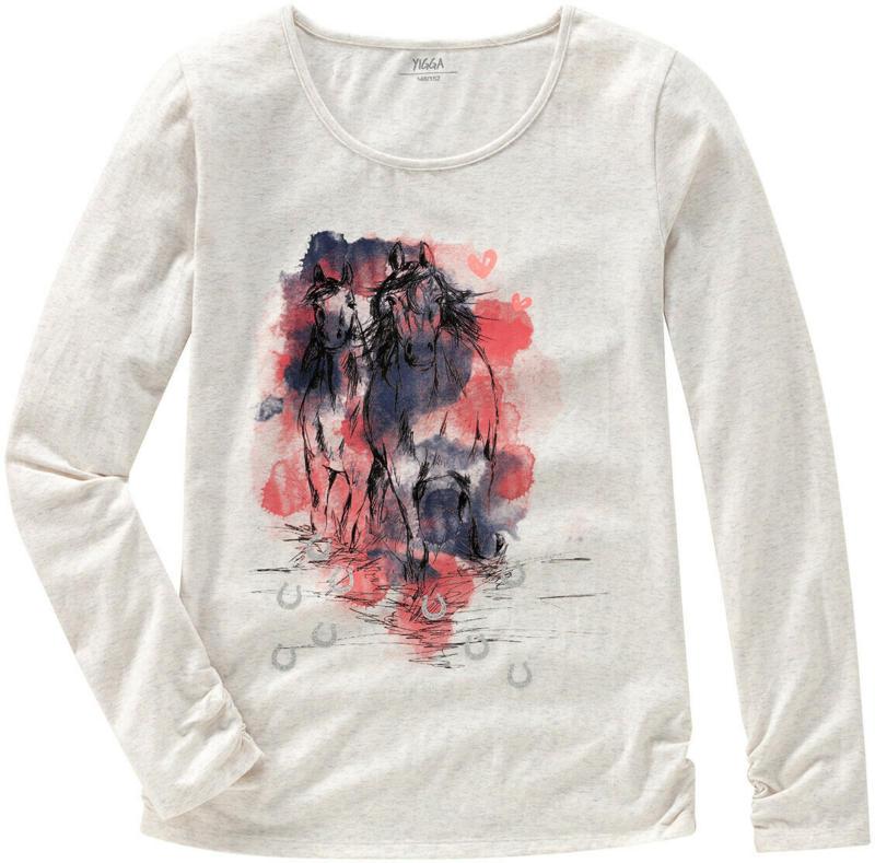 Mädchen Langarmshirt mit Pferde-Motiv (Nur online)