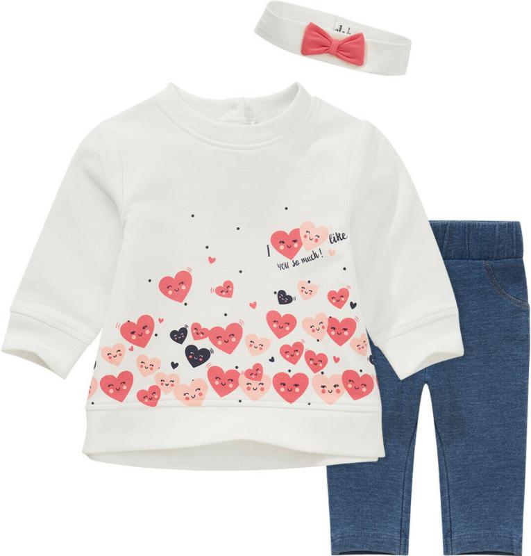 Newborn Shirt, Hose und Stirnband im Set (Nur online)