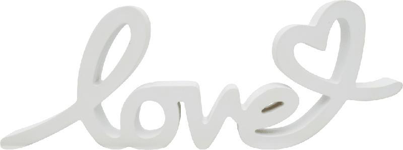 Dekorieren & Einrichten Holzschriftzug 'love' weiß