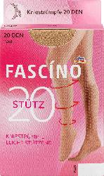 FASCÍNO Stütz Kniestrümpfe 20 den, hautfarben, Gr. 35-38