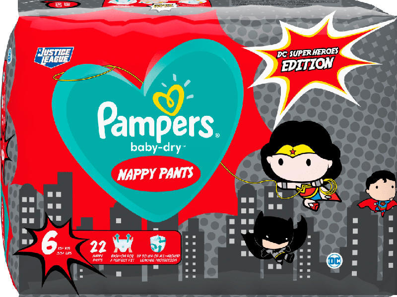 Pampers Pants Baby Dry, Größe 6 Extra Large, 15+kg, Einzelpack, Limited Edition