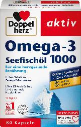 Doppelherz Omega-3 Seefischöl 1000 Kapseln 80 St.
