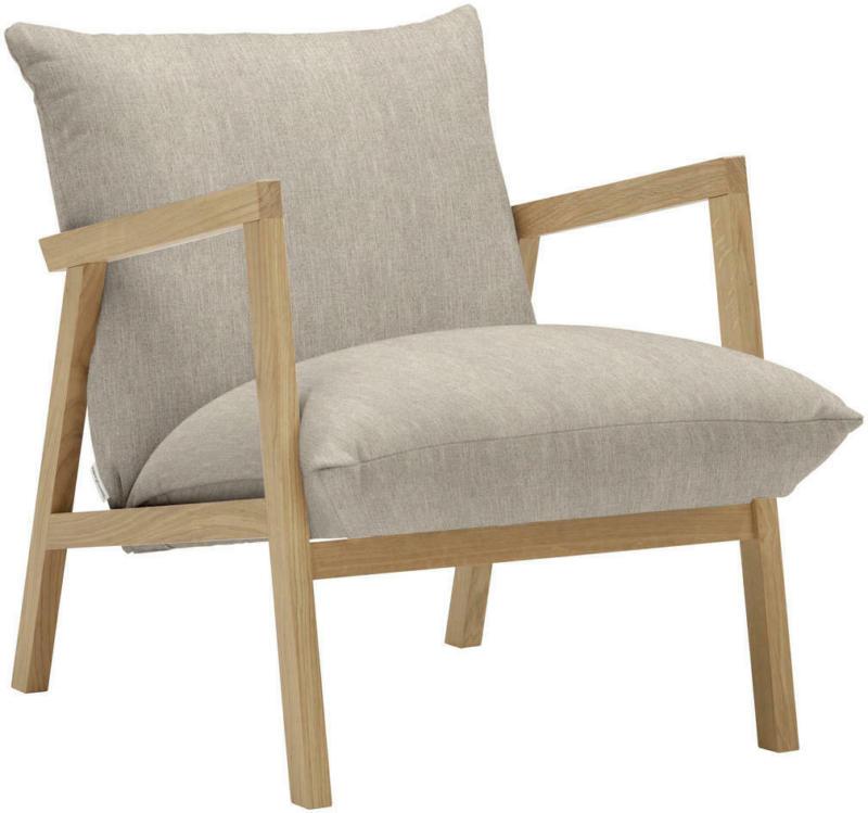 Sessel in Textil Beige