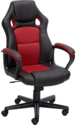 Gamingstuhl in Lederlook Rot, Schwarz