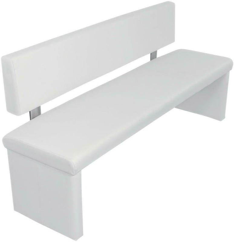 Sitzbank 160/83/54 cm in Weiß
