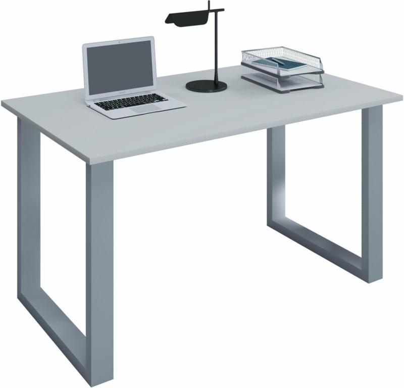 """Schreibtisch """"Lona"""", 110x50 cm, U-Fußgestell, grau/silber"""