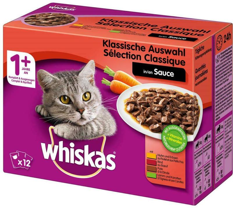 Whiskas Klassische Auswahl in Sauce 1+