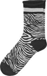 1 Paar Damen Socken mit Zebra-Allover (Nur online)