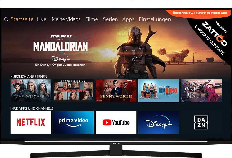 GRUNDIG 55 GUB 8040 FIRE TV EDITION LED TV (Flat, 55 Zoll/139 cm, UHD 4K, SMART TV, FireTV Experience )