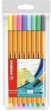 STABILO Fineliner Point 88 88 / 8 - 01 8er Etui Pastellfarben