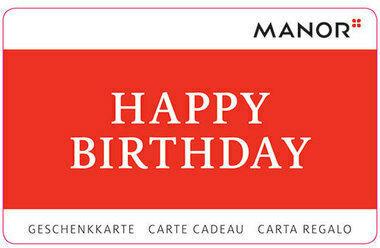 Geschenkkarte Manor Happy Birthday variabel