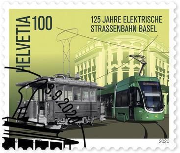 125 Jahre elektrische Strassenbahn Basel, Einzelmarke