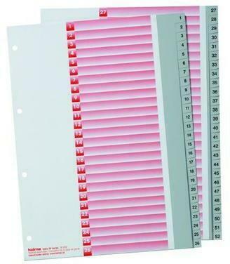KOLMA Register Kolmaflex A4 18.252.03 grau, 52 - teilig, mit Indexbl.