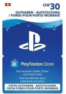 Geschenkkarte Sony PSN CHF 30.-