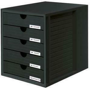 HAN Systemboxen 5 Fächer 1450 - 13 schwarz / schwarz