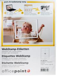 POST WebStamp Etiketten 080963 97 x 42,3 mm
