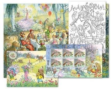 Fiabe, Set di cartoline «Bosco»