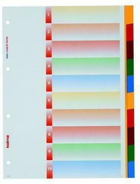 KOLMA Register LongLife A4 19.104.20 blanko, farb. Tabs, 10 - teilig