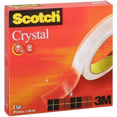SCOTCH Crystal Clear 600 19mmx66m C6001966 kristallklar