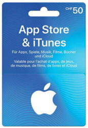 Carte cadeau App Store & iTunes CHF 50.-