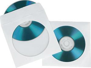 HAMA Pochettes de protection en papier pour CD/DVD - Custodie vuote di carta (Bianco)