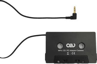 AIV 530110 CD/MP3 - Cassette adaptateur (Noir)