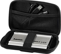 HAMA 84113 EVA CASE F/HDD2.5 BLACK - Festplattentasche (Schwarz)