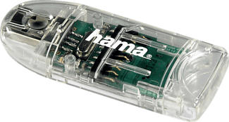 HAMA 8in1 - Lecteur de cartes (Transparent)
