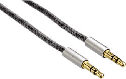 HAMA AluLine Audio Câble - Câble audio (Argent)