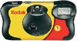 KODAK Fun Flash - Appareil photo jetable (Noir/Jaune)