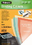 MediaMarkt FELLOWES COVER SHEET A4 GREY - Binding Covers (Bianco)
