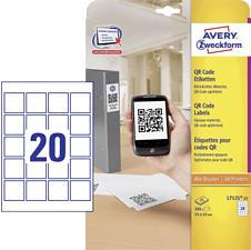 ZWECKFORM Etichette per codici QR, 45 x 45 mm, 500 etichette -