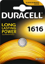 DURACELL Electronics CR1616 - Pile bouton (Argent)
